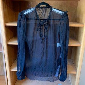NWT Dolce & Gabbana black sheer blouse
